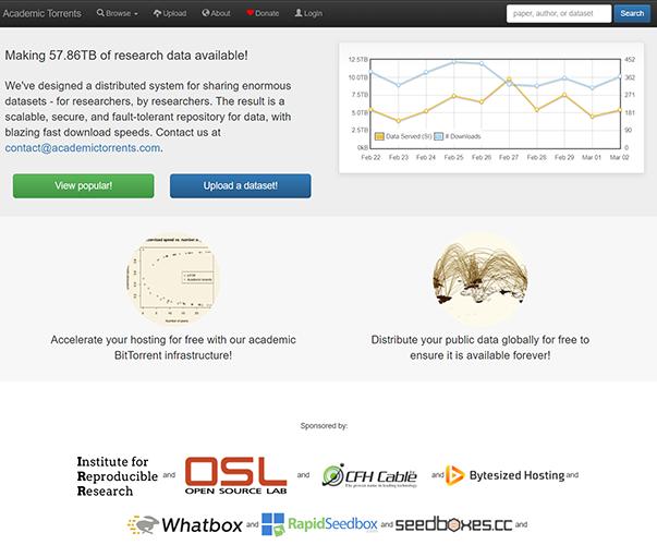 AcademicTorrents - http://academictorrents.com