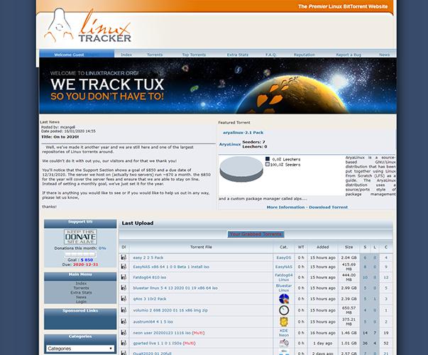 LinuxTracker - https://linuxtracker.org