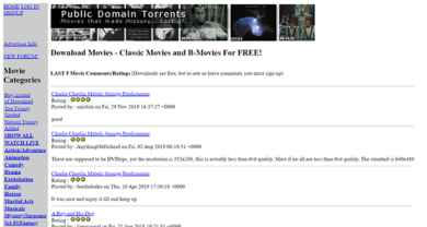Public Domain Torrents - publicdomaintorrents.info