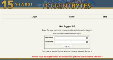 TorrentBytes - torrentbytes.netlogin.php?returnto=%2F