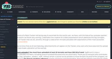 YGGTorrent - yggtorrent.gg