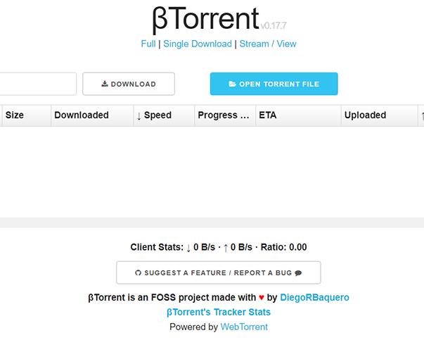 βTorrent - https://btorrent.xyz
