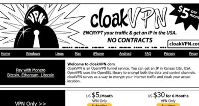 CloakVPN - cloakvpn.com