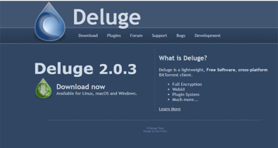 Deluge - deluge-torrent.org