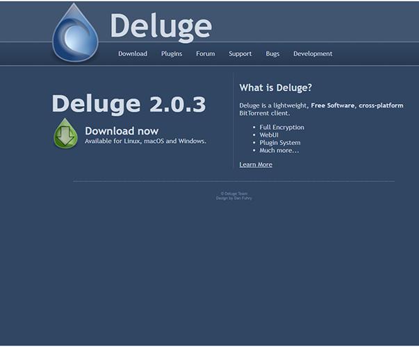 Deluge - https://deluge-torrent.org