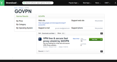 GOVPN - download.cnet.comdevelopergovpn