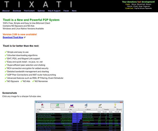 Tixati - https://www.tixati.com