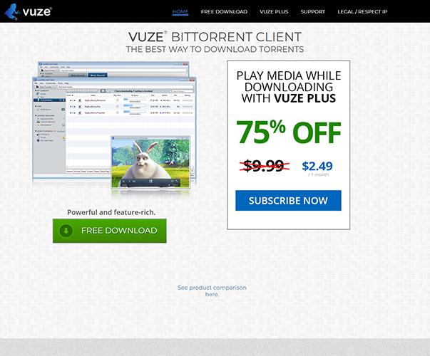 Vuze - https://www.vuze.com