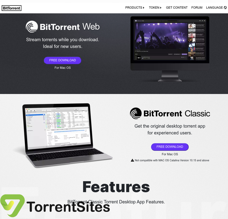 BitTorrent - https://www.bittorrent.com