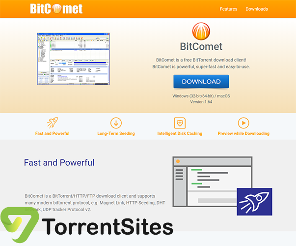 BitComet - https://www.bitcomet.com