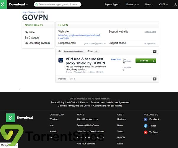 GOVPN - download.cnet.comdevelopergovpn
