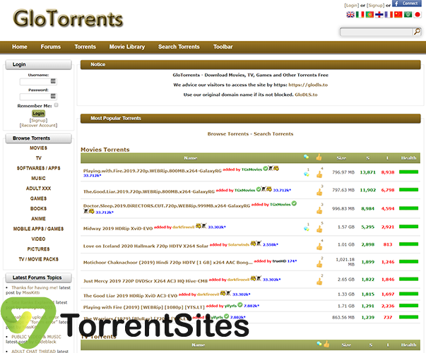 GloTorrents - glodls.tohome.php
