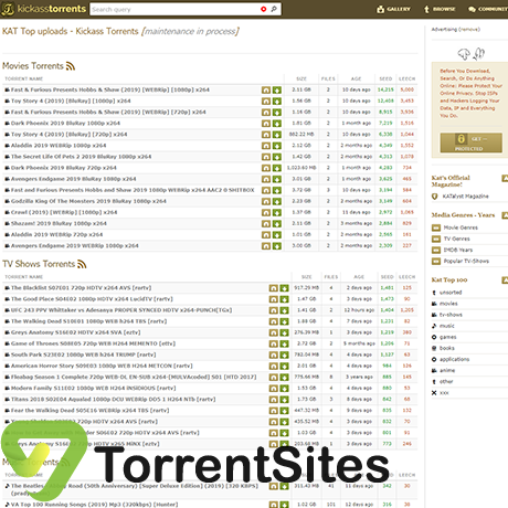 KickAssTorrents - https://kickasstorrents.to