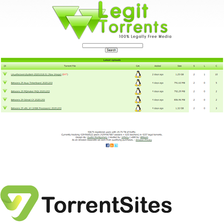 LegitTorrents - http://www.legittorrents.info