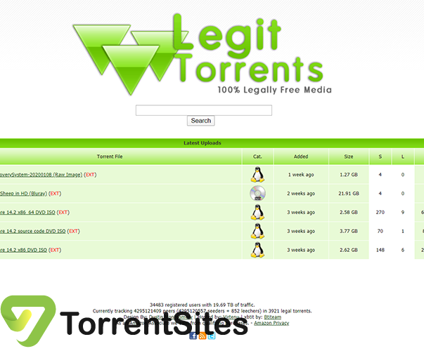 Legit Torrents - legittorrents.infoindex.php