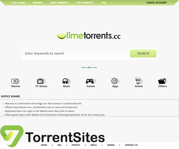 Limetorrents.cc - limetorrents.info