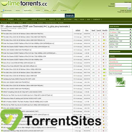 LimeTorrents - https://limetorrents.buzz