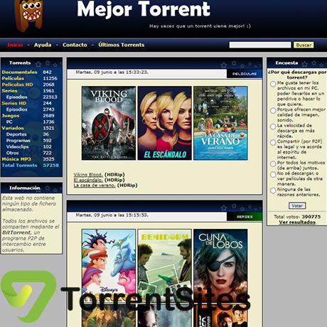MejorTorrent - http://www.mejortorrent.tv