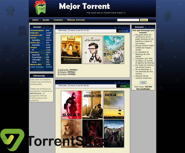 Mejor Torrent - mejortorrent.tv