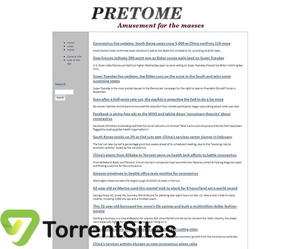 PreToMe - pretome.infoindex.php?page=home