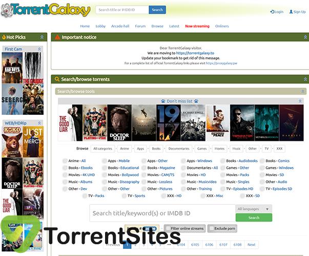 TorrentGalaxy - https://torrentgalaxy.to