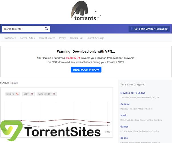 Torrents - torrents.io