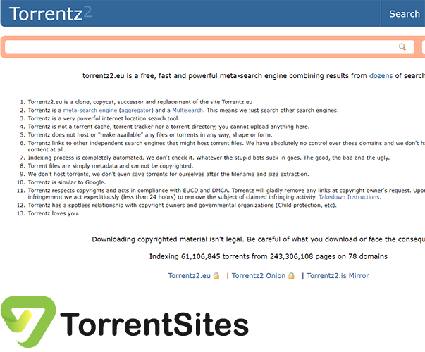 Torrentz2 - torrentz2.eu