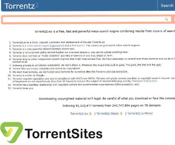 Torrentz2 - https://2torrentz.net