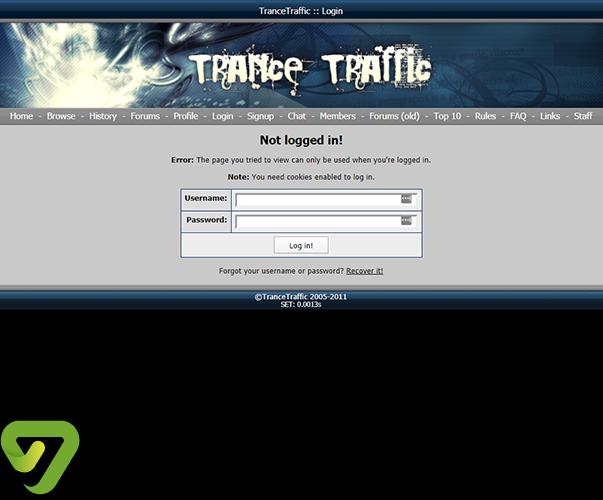 Trancetraffic - trancetraffic.comlogin.php?returnto=%2F