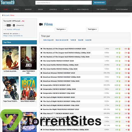 Torrent9 - https://www.torrent9.site
